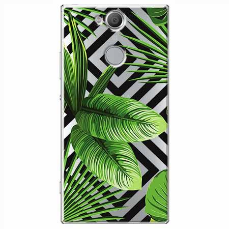 Etui na Sony Xperia XA2 - Egzotyczne liście bananowca.
