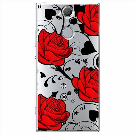 Etui na Sony Xperia XA2 - Czerwone róże.