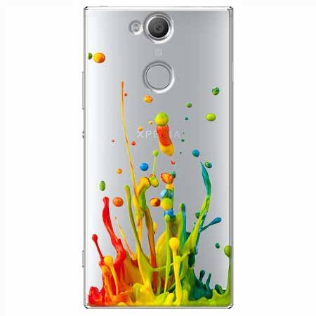 Etui na Sony Xperia XA2 - Kolorowy splash.