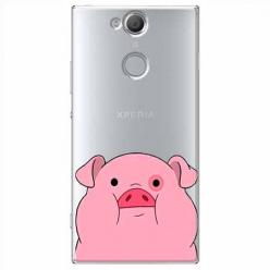 Etui na Sony Xperia XA2 - Słodka różowa świnka.