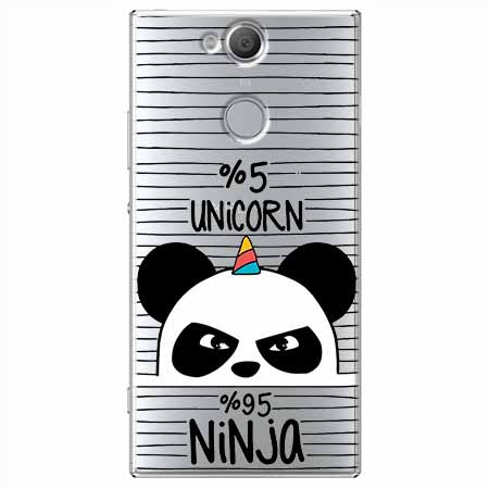 Etui na Sony Xperia XA2 - Ninja Unicorn - Jednorożec.