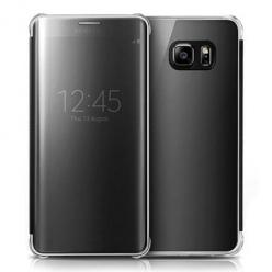 Etui na Samsung Galaxy S6 Edge Plus - Flip Clear View z klapką - Czarny.