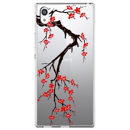 Etui na Sony Xperia L1 - Krzew kwitnącej wiśni.