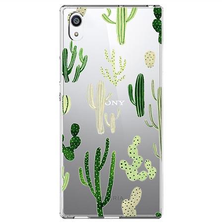 Etui na Sony Xperia L1 - Kaktusowy ogród.