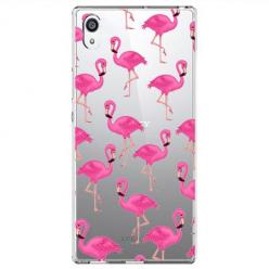 Etui na Sony Xperia L1 - Różowe flamingi.