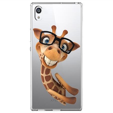 Etui na Sony Xperia XA1 Ultra - Wesoła żyrafa w okularach.