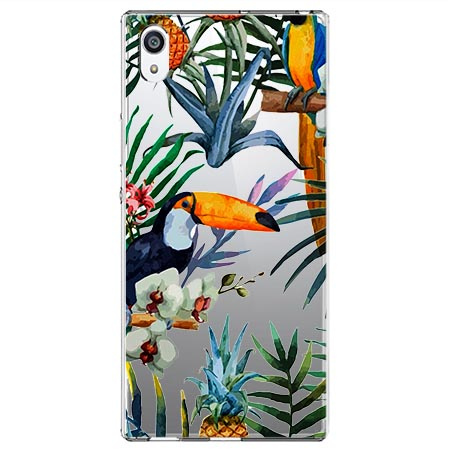 Etui na Sony Xperia XA1 Ultra - Egzotyczne tukany.
