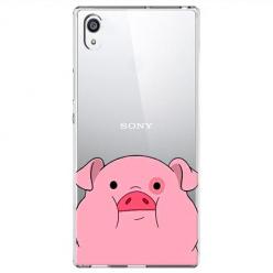 Etui na Sony Xperia XA1 Ultra - Słodka różowa świnka.