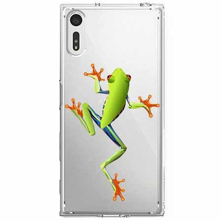 Etui na Sony Xperia XZ - Zielona żabka.
