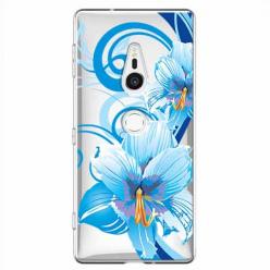 Etui na Sony Xperia XZ2 - Niebieski kwiat północy.