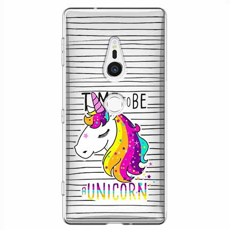Etui na Sony Xperia XZ2 - Time to be unicorn - Jednorożec.
