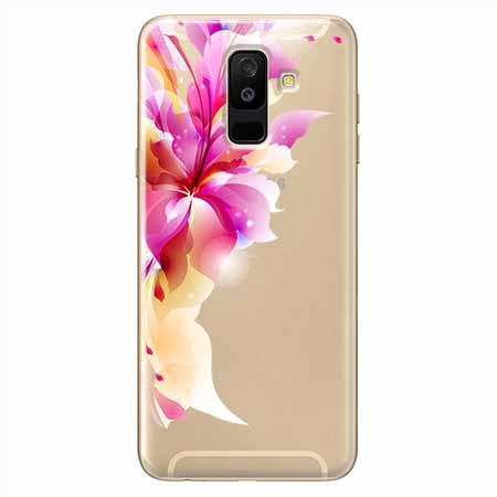 Etui na Samsung Galaxy A6 Plus 2018 - Bajeczny kwiat.