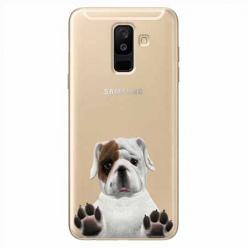 Etui na Samsung Galaxy A6 Plus 2018 - Słodki szczeniaczek.