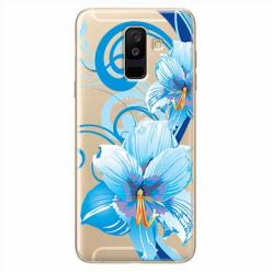 Etui na Samsung Galaxy A6 Plus 2018 - Niebieski kwiat północy.