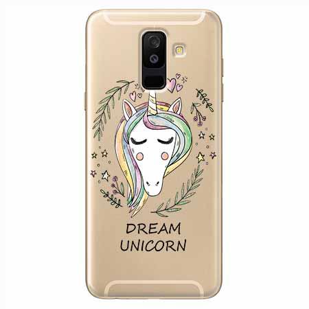 Etui na Samsung Galaxy A6 Plus 2018 - Dream unicorn - Jednorożec.