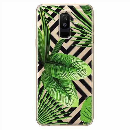 Etui na Samsung Galaxy A6 Plus 2018 - Egzotyczne liście bananowca.