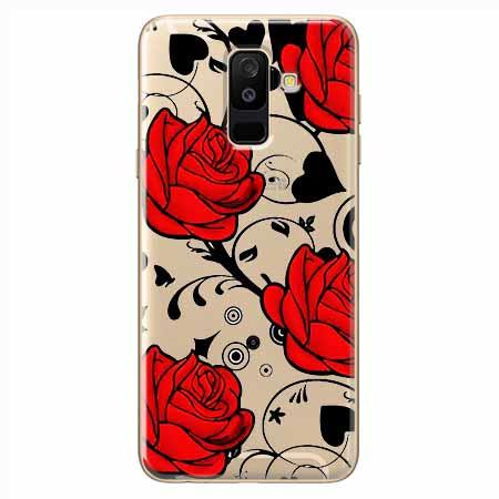 Etui na Samsung Galaxy A6 Plus 2018 - Czerwone róże.