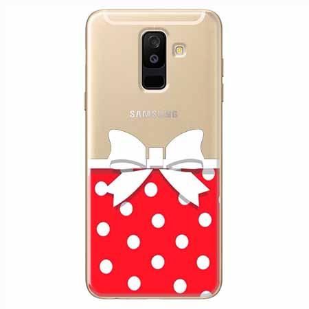 Etui na Samsung Galaxy A6 Plus 2018 - Gustowna kokardka.