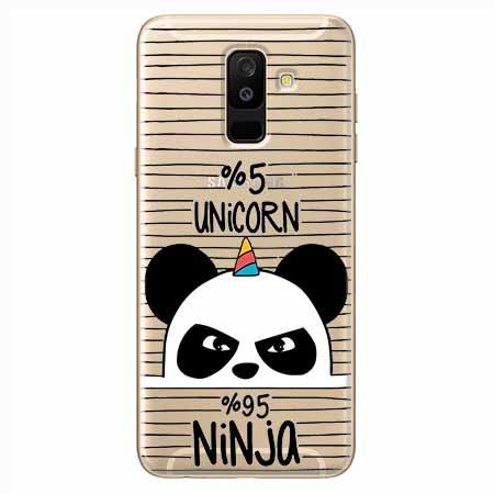 Etui na Samsung Galaxy A6 Plus 2018 - Ninja Unicorn - Jednorożec.
