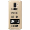 Etui na Samsung Galaxy A8 2018 - I Am not perfect…