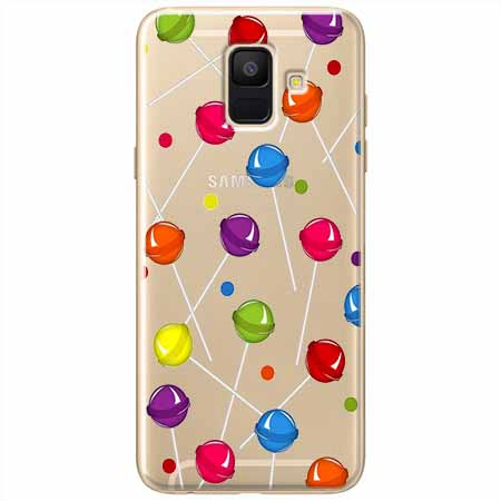 Etui na Samsung Galaxy A8 2018 - Kolorowe lizaki.
