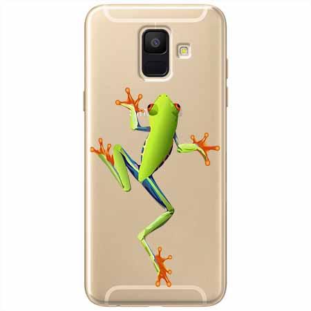 Etui na Samsung Galaxy A8 2018 - Zielona żabka.