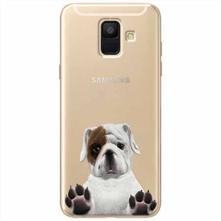 Etui na Samsung Galaxy A8 2018 - Słodki szczeniaczek.