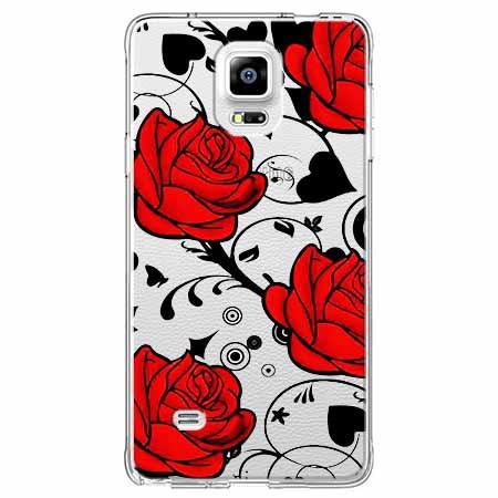 Etui na Samsung Galaxy Note 4 - Czerwone róże.