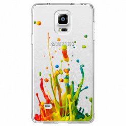 Etui na Samsung Galaxy Note 4 - Kolorowy splash.