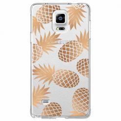 Etui na Samsung Galaxy Note 4 - Złote ananasy.