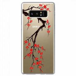 Etui na Samsung Galaxy Note 8 - Krzew kwitnącej wiśni.