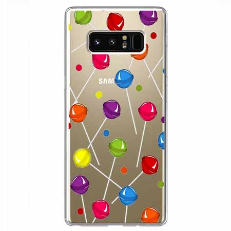 Etui na Samsung Galaxy Note 8 - Kolorowe lizaki.