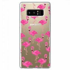 Etui na Samsung Galaxy Note 8 - Różowe flamingi.