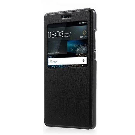 Etui na Huawei P9 Lite - S View z klapką - Czarny.