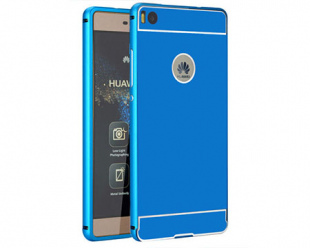 Huawei P9 lite etui aluminium bumper case niebieski.