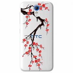Etui na HTC Desire 620 - Krzew kwitnącej wiśni.