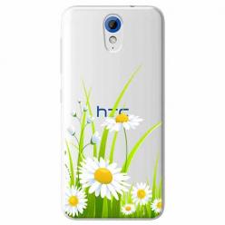 Etui na HTC Desire 620 - Polne stokrotki.
