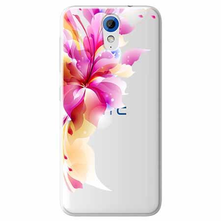 Etui na HTC Desire 620 - Bajeczny kwiat.