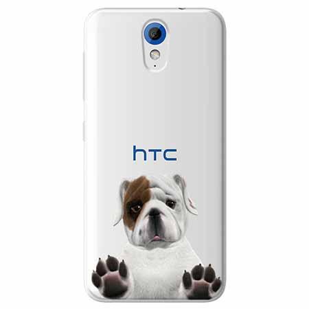 Etui na HTC Desire 620 - Słodki szczeniaczek.