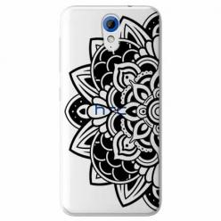 Etui na HTC Desire 620 - Kwiatowa mandala.