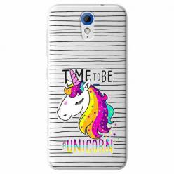 Etui na HTC Desire 620 - Time to be unicorn - Jednorożec.