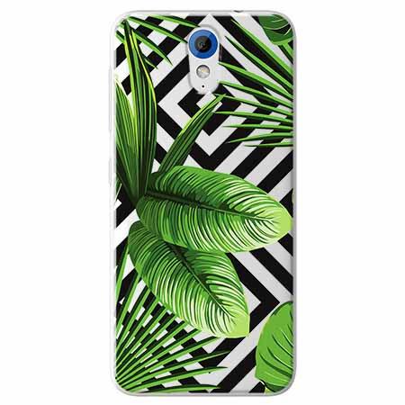 Etui na HTC Desire 620 -  Egzotyczne liście bananowca.