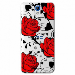 Etui na HTC Desire 620 - Czerwone róże.