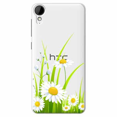 Etui na HTC Desire 825 - Polne stokrotki.