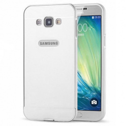 Samsung Galaxy J5 2016 etui aluminium bumper case srebrny.