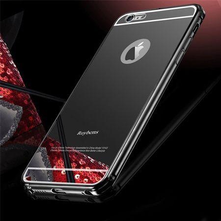 Mirror bumper case na iPhone 6 / 6s - Czarny
