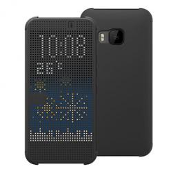 HTC One M9 - etui Flip Dot View  z klapką - Czarny.