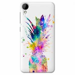 Etui na HTC Desire 825 - Watercolor ananasowa eksplozja.