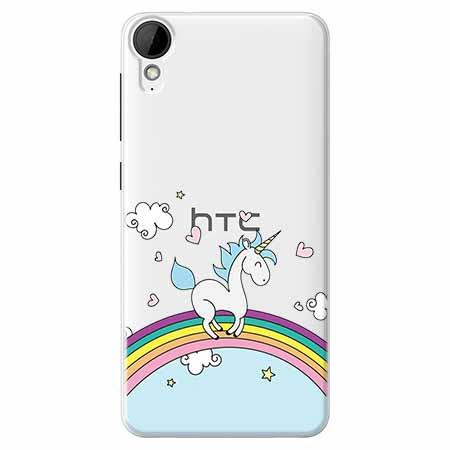 Etui na HTC Desire 825 - Jednorożec na tęczy.