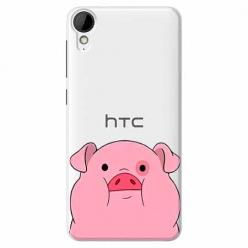 Etui na HTC Desire 825 - Słodka różowa świnka.